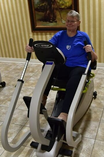 Resident on an exercise equipment